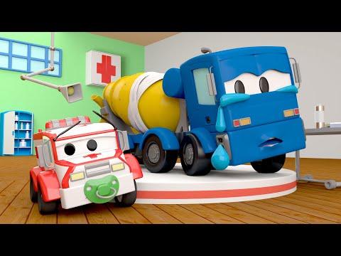 แอมเบอร์ เจ้ารถพยาบาล 🚑  คริสโตเฟอร์ เจ้ารถผสมคอนกรีต กับชาลี เจ้ารถเครน  🚑 รถพยาบาลในคาร์ซิตี้