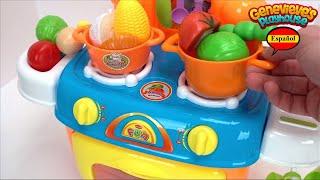 Equipo de Cocina de Juguete para niños! Aprende los Nombres de la Comida