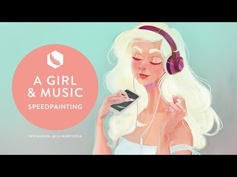 Making Of - Girl & Music - Photoshop textures with Kyle T. Webster Brushes