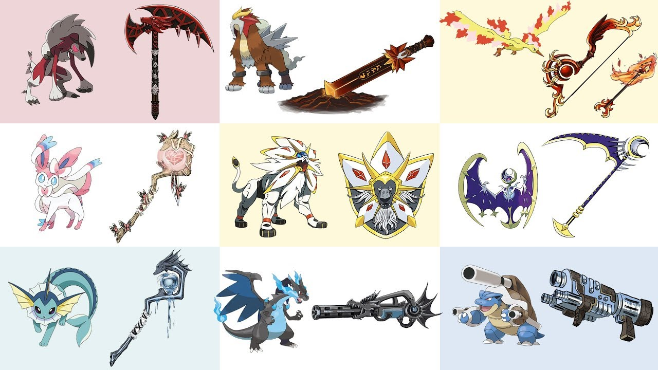 Top Amazing Pokemon as Weapons Fan Art Compilation ...