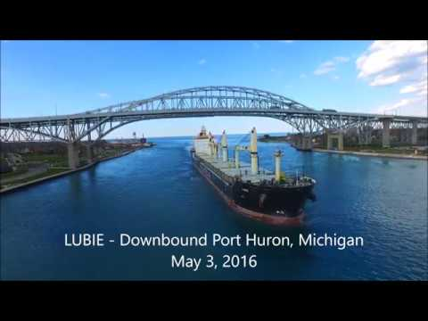 """A Look At Some """"GREAT LAKES SHIPS"""" That Passed Port Huron, Michigan In 2016"""