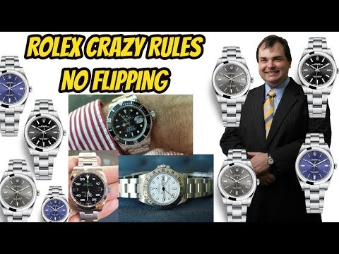 ROLEX BUYER RULES - Crazy rules to stop speculators flipping watches
