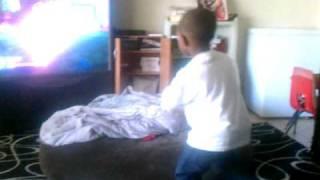 Kenyon doing Boogie Superstars on Nintendo Wii