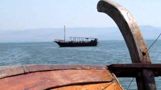 A replica Galilean fishing boat, on the Sea of Galilee