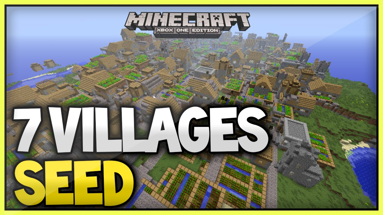 Minecraft Xbox 360 Ps3 Tu35 Best Seed 7 Villages Survival Seed Youtube