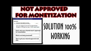 Here's Why Your Channel Not Approved For Monetization! Youtube Monetization Solution