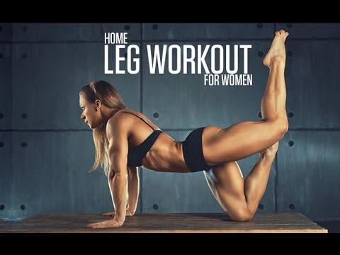 Bodyweight Leg Workout (HOME LEGS ROUTINE FOR WOMEN!!) - YouTube