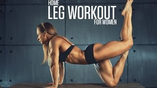 Bodyweight Leg Workout (HOME LEGS ROUTINE FOR WOMEN!!)