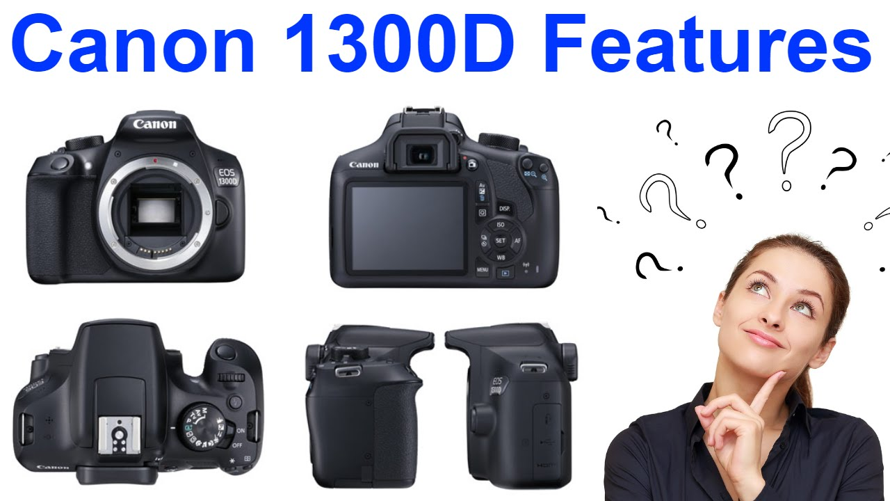Canon EOS 1300D Rebel T6 Promo Specs and Features