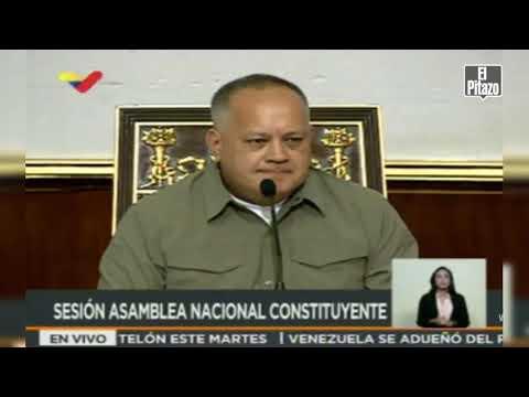 Diosdado pide la renuncia de Almagro en sesión de la ANC