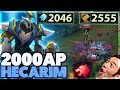 INSTANT TRIPLE KILL | THIS IS ACTUALLY BUSTED | 2,000AP HECARIM - BunnyFuFuu