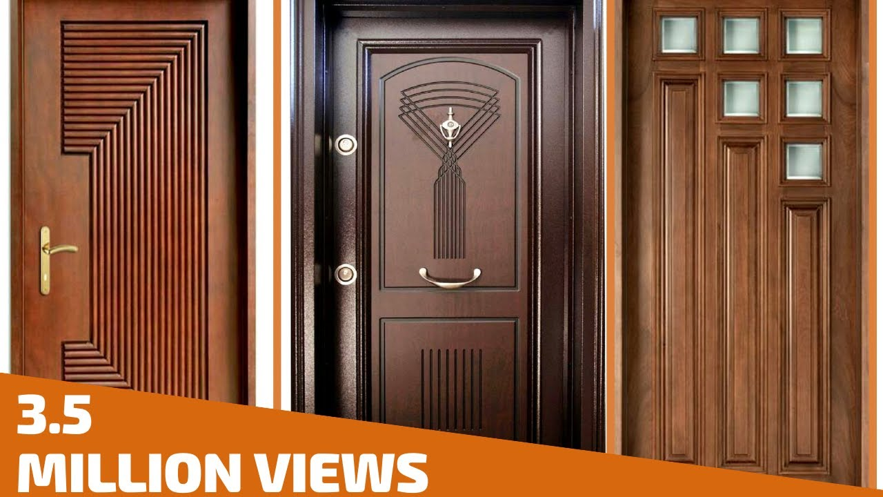 Top 35 modern wooden door designs for home 2018 plan n for Big main door designs