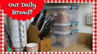 Bread Storage Solution ~How I Store My Bread ~ Small Kitchen Organization ~ Noreen's Kitchen