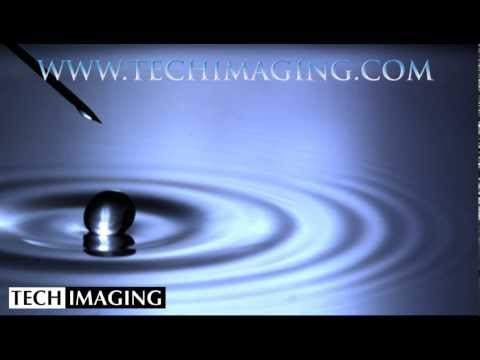 High Speed Camera Video - Water drop bouncing