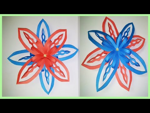 How To Make 3D Origami Paper Snowflake| Craft Flower Idea | ZINAT Crafts