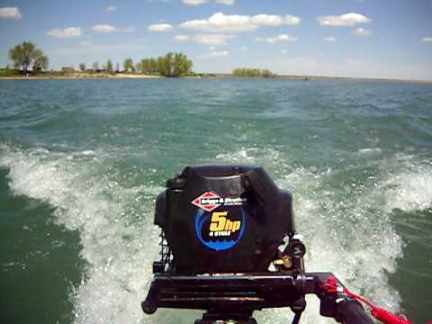 Briggs And Stratton 5hp Outboard Air Cooled Youtube