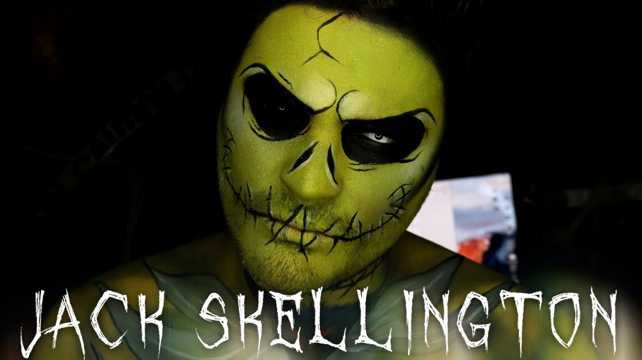 Radioactive Jack Skellington Halloween Makeup Tutorial - YouTube