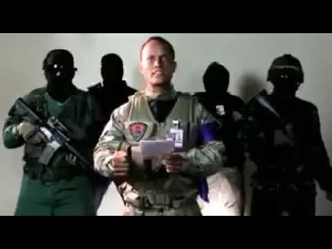 Venezuela Coup Golpe helicopter attack statement video (June 27 2017)