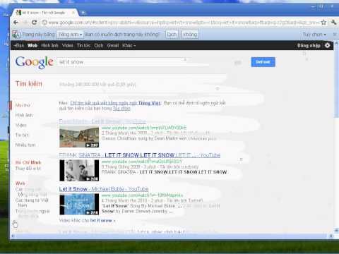 Google trick (Let it snow)