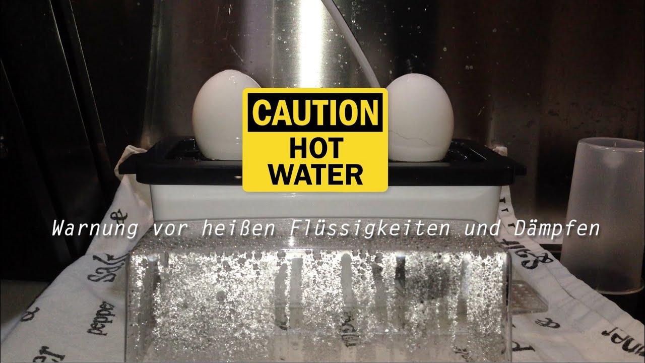 Severin Ek 3161 Unboxing Test Eierkocher Start Egg Boiler Start