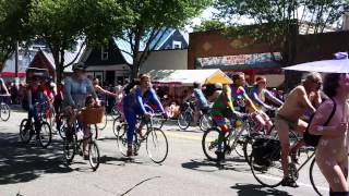 Naked cyclists at Fremont Solstice Parade