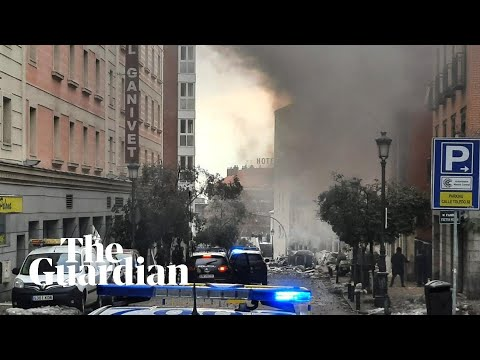 Madrid explosion: buildings destroyed and casualties reported in blast