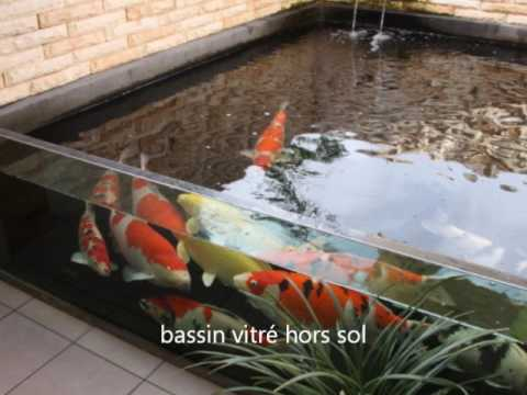 les plus beaux bassin koi avec vitre youtube. Black Bedroom Furniture Sets. Home Design Ideas
