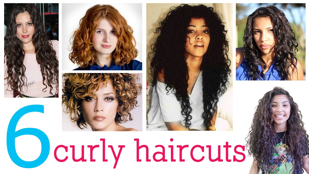 6 haircuts for curly hair - youtube