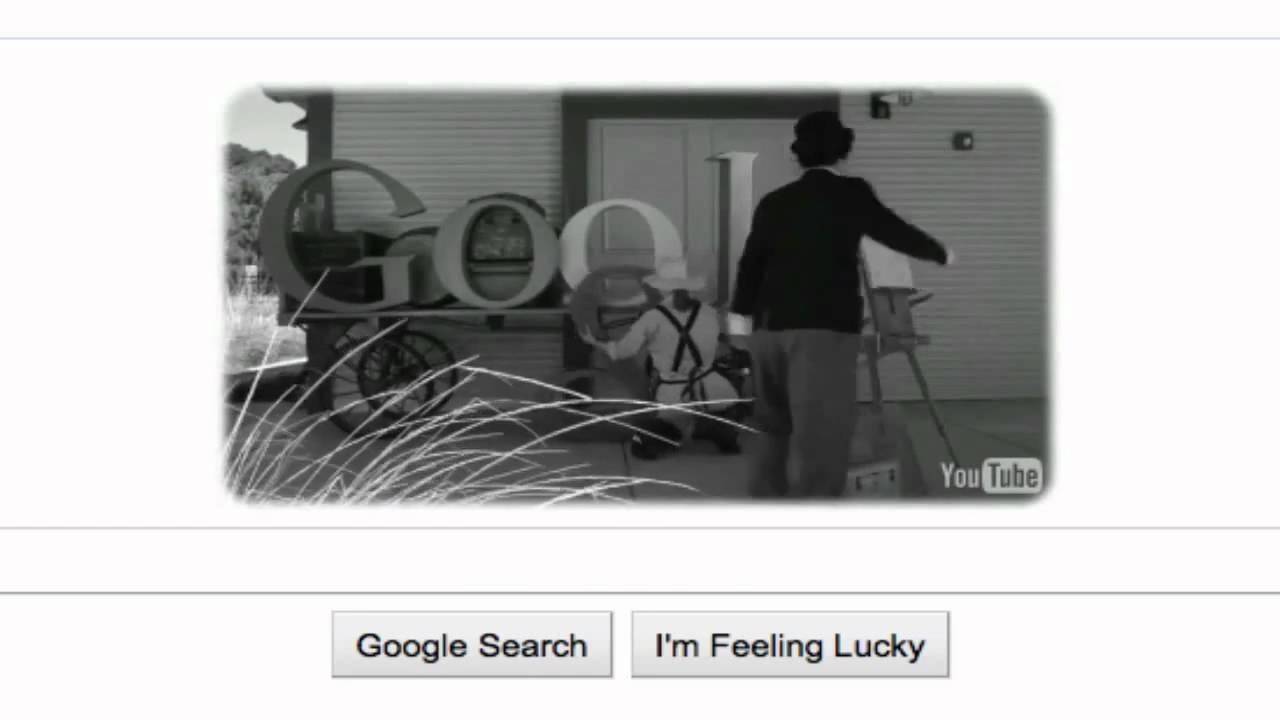 Charlie Chaplin - Google Logo - GOOGLE DOODLE 16th april 2011