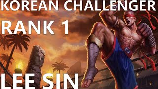 Korean Challenger Rank 1 Plays Lee Sin - League of Legends