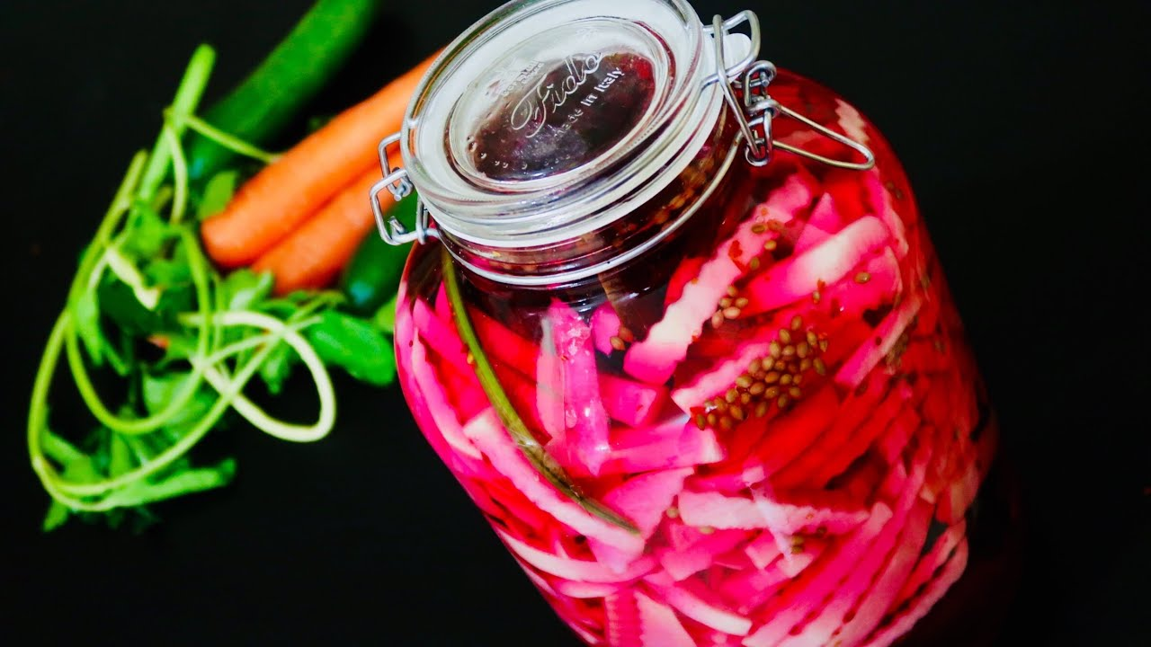 مخلل اللفت بطريقة جديدة/ تجهيزات رمضان   how to make turnip pickle