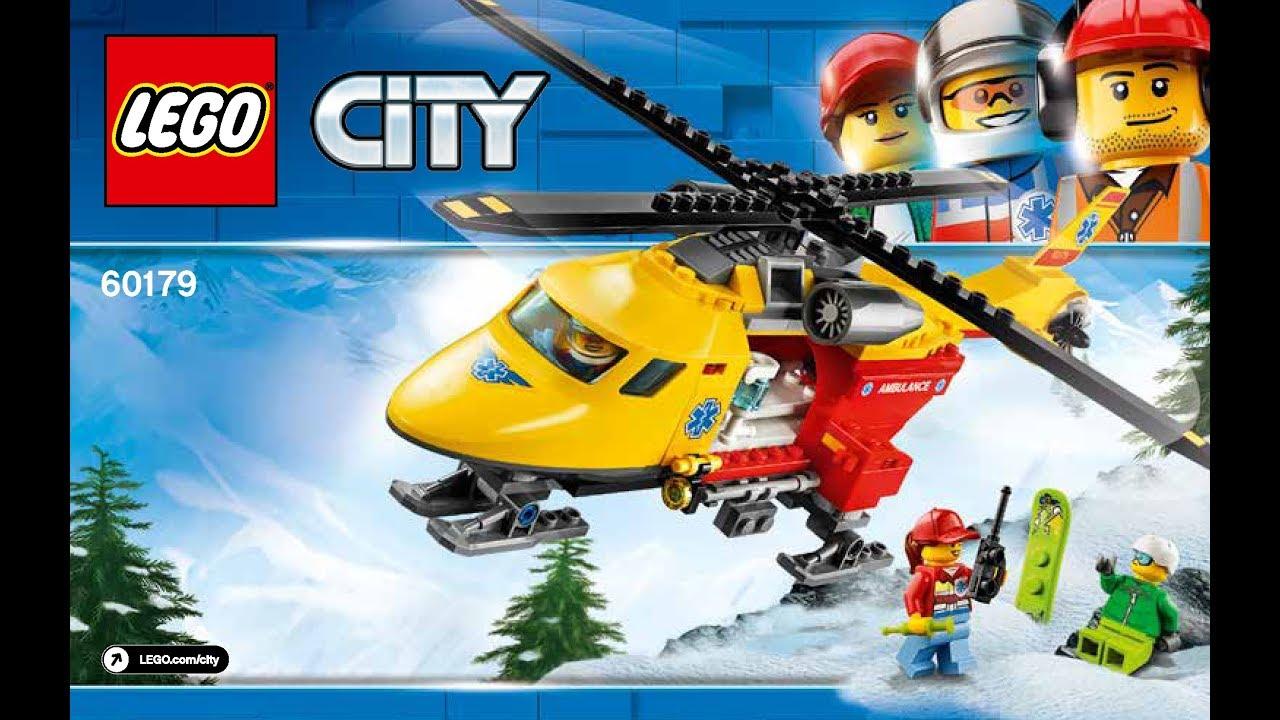 Lego Instructions 60179 City Medical Ambulance Helicopter 2018 Youtube