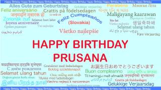 Prusana   Languages Idiomas - Happy Birthday