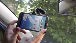 Авто-держатель для Samsung Galaxy Note 2. Видеообзор!(СПАСИБО ЗА ПОДПИСКУ! Цена и наличие тут: ..., 2014-08-27T12:58:56.000Z)