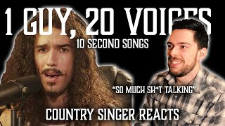 Country Singer Reacts To One Guy 20 Voices (Michael Jackson, Post Malone, Roomie & MORE)