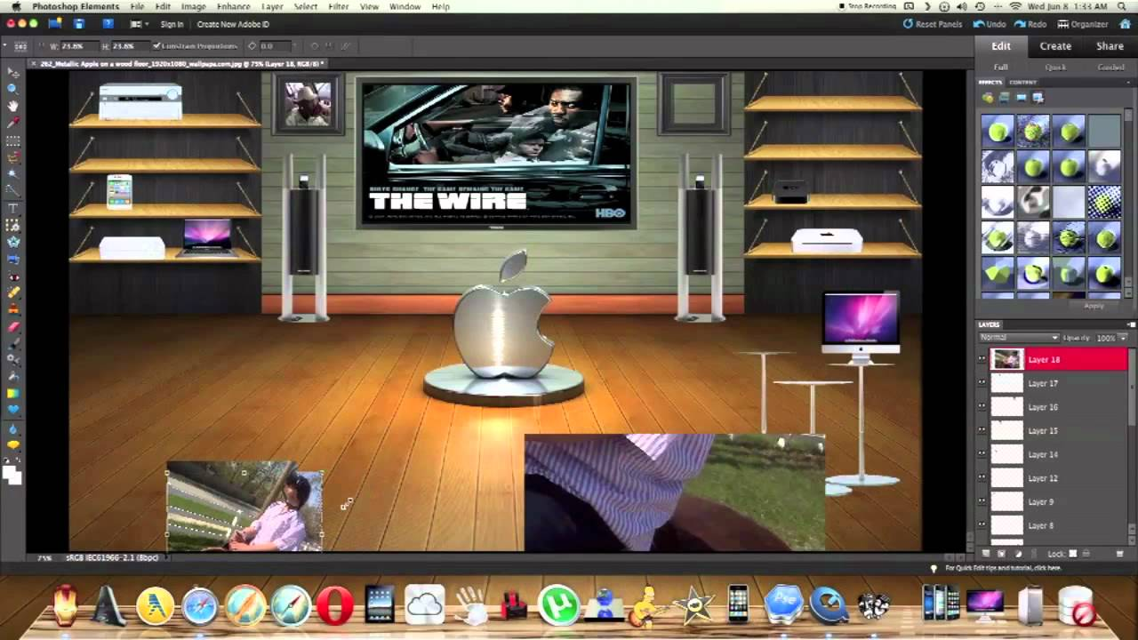 How to make your own custom 3D desktop background using photo shop. - YouTube