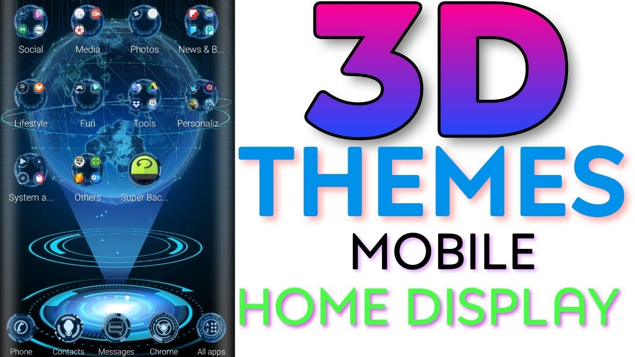3D Themes For Android || Home Display Launcher App Review And Demo ||  #থ্রিডি_থিম