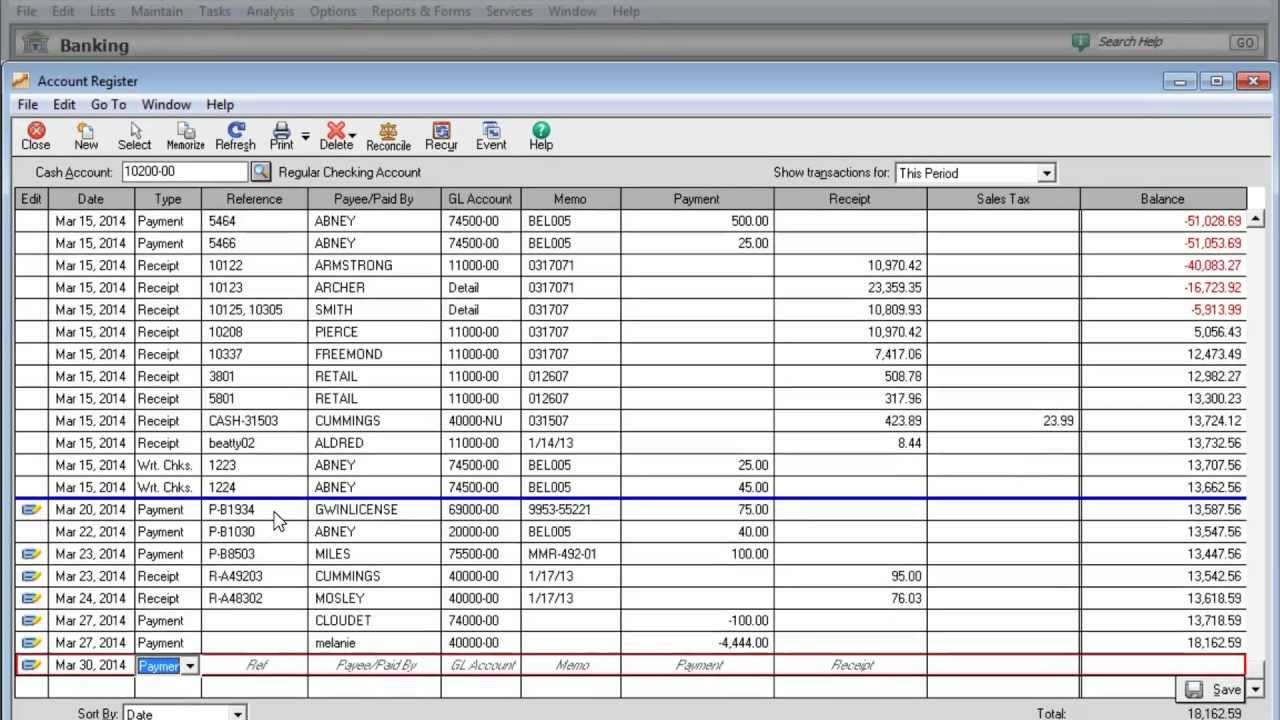 entering business expenses in sage 50
