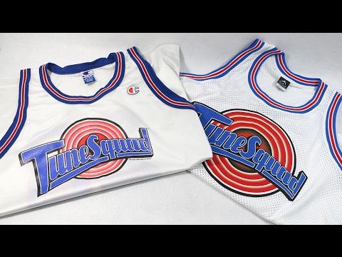 1e4ece08f6d Comparison - The MJ Tune Squad Jersey (Champion vs Jordan Brand) - YouTube