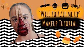 Will You Zip Me Up? | Halloween Makeup Tutorial