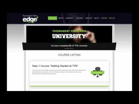 Tournament Poker Edge - The Premiere MTT Training Site