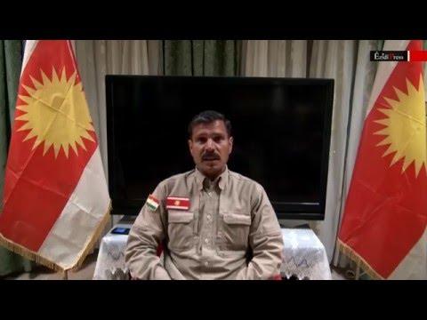 [English] Haydar Shesho leader of Protection Force of Êzîdxanê (HPE) on Peshmerga fleeing