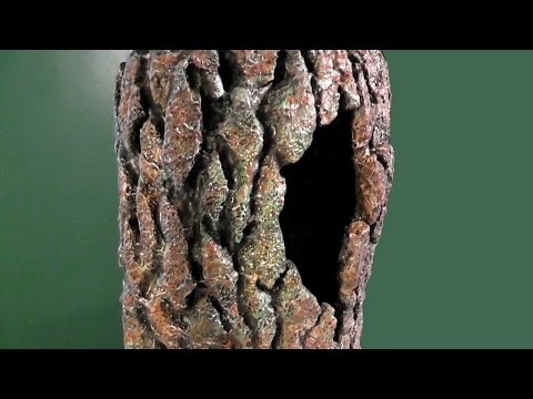 Tree background tutorial for lizard cage