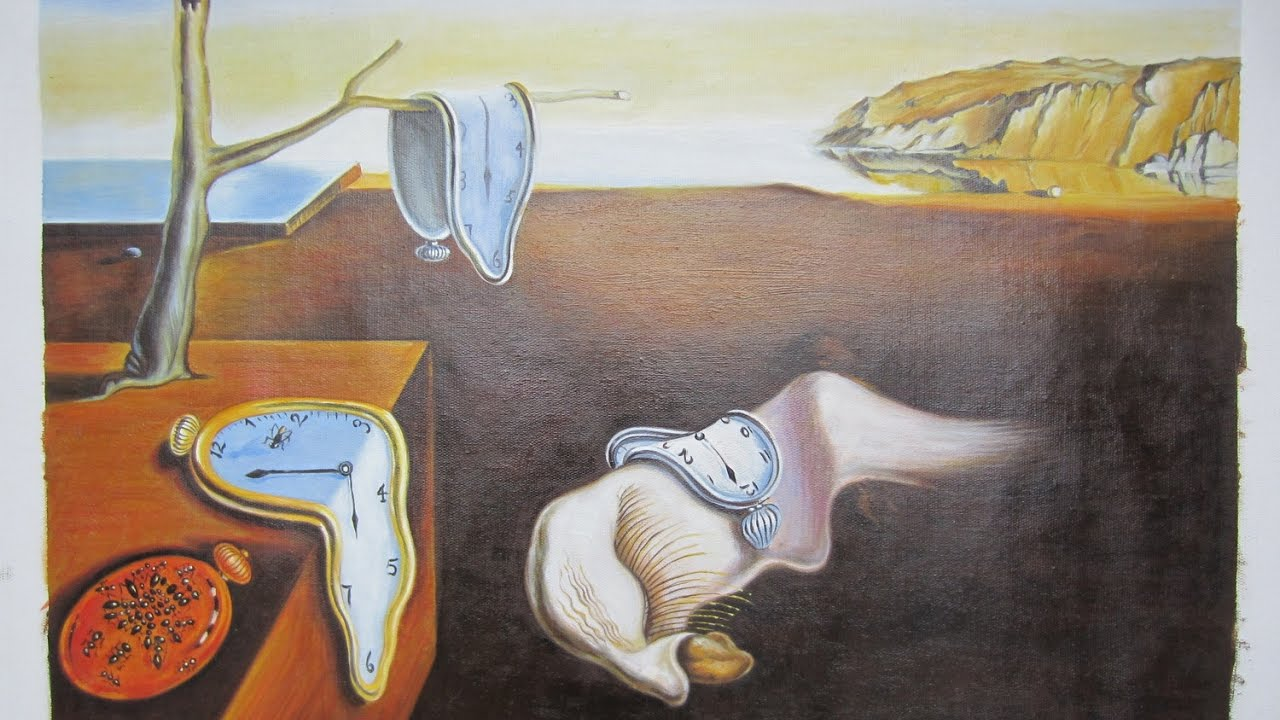 salvador dali melting clocks soft watches the persistence of memory oil painting reproduction