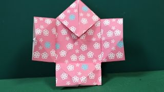 "Origami ""Yakko Top"" 折り紙 「やっこ上」 ▽My Origami Channel ○YouTube http://www.youtube.com/user/gunoiejapan ○Google+ ..."