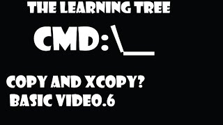 how to copy a file and xcopy a folder in cmd
