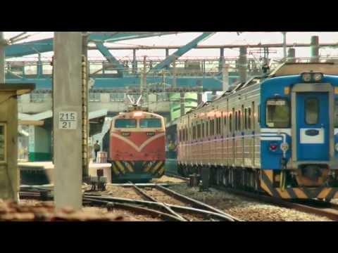 [HD] Three Taiwan TRA trains (E327 6904, EMU 1200 122 and EMU 500 2527) at the Changhua
