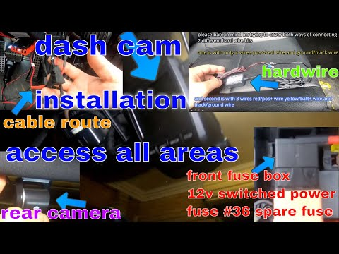 MERCEDES BENZ C LASS W204 How To Route Your Dash Cam Cables Access All Areas And Use A Fuse Tap EASY