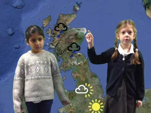 Year 1 Weather Presenting  in the TV Studio - Areesha & Elizabeth