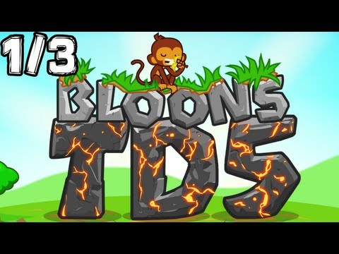 Bloons Tower Defense 5 Gameplay - Let's Flash 1/3 (EASY) [GLP]